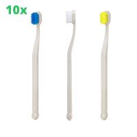 10x kempii Bambuplast Zahnbürste für Erwachsene